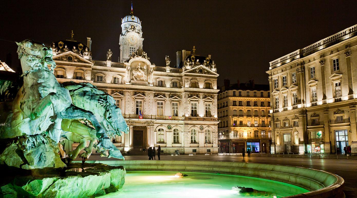 un fond d'écran HD de Lyon