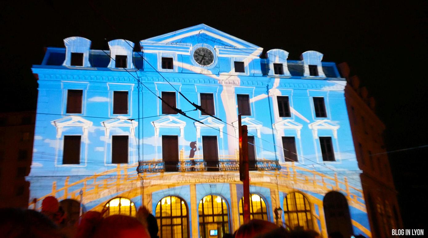 Fête des Lumières 2017 - Vidéo Gare Saint Paul