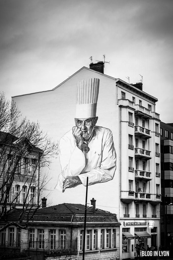 Paul Bocuse - Fresque murale - Blog In Lyon