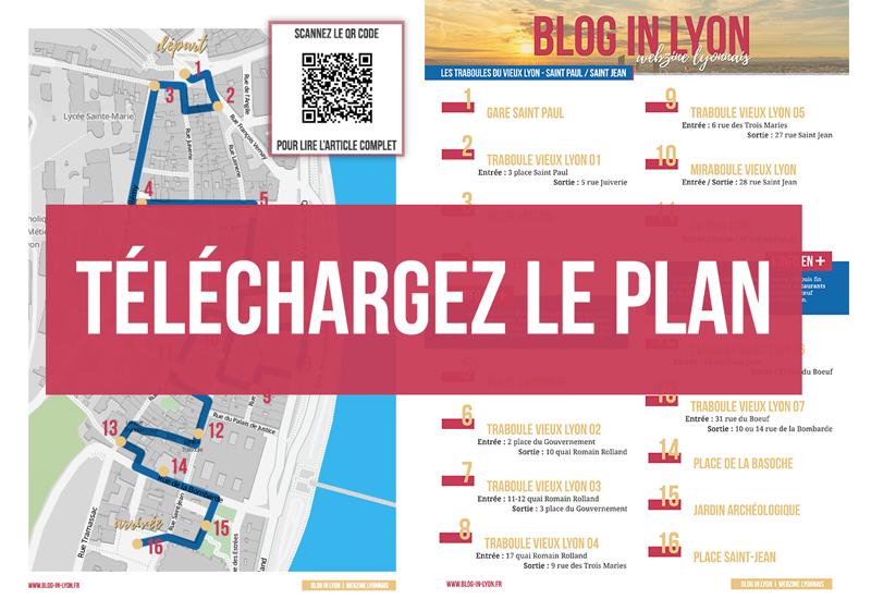Visiter Lyon - Plan traboules du Vieux Lyon | Blog In Lyon