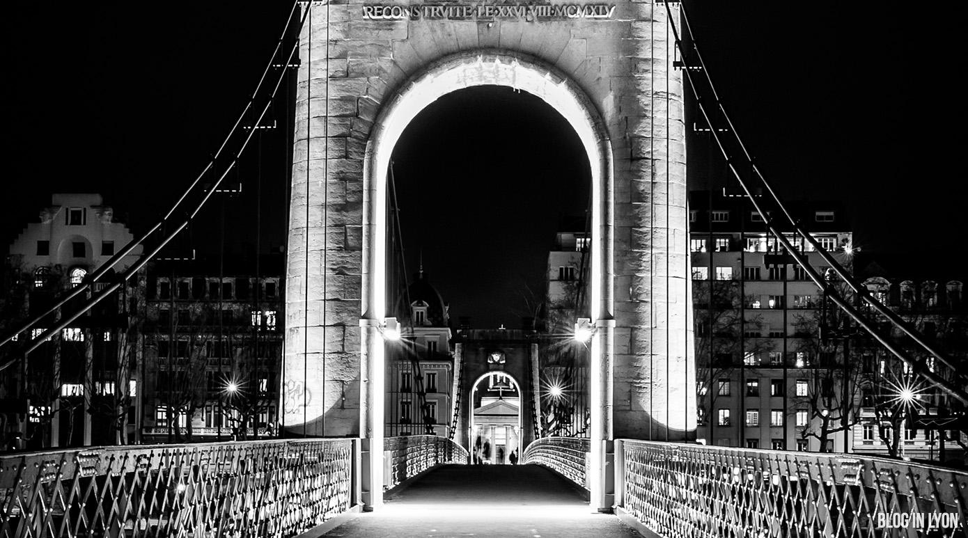 Passerelle du Collège photo noir et blanc | Blog In Lyon