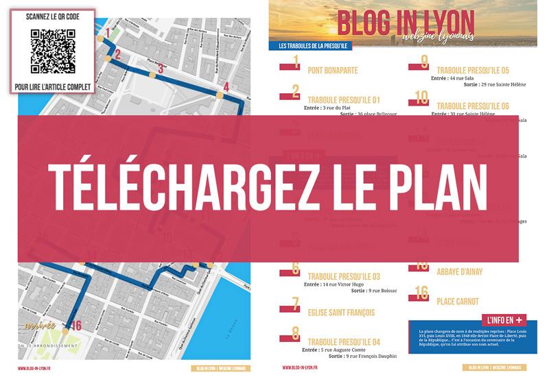 Visiter Lyon – Les traboules Presqu Ile Centre - Plan à télécharger | Blog In Lyon
