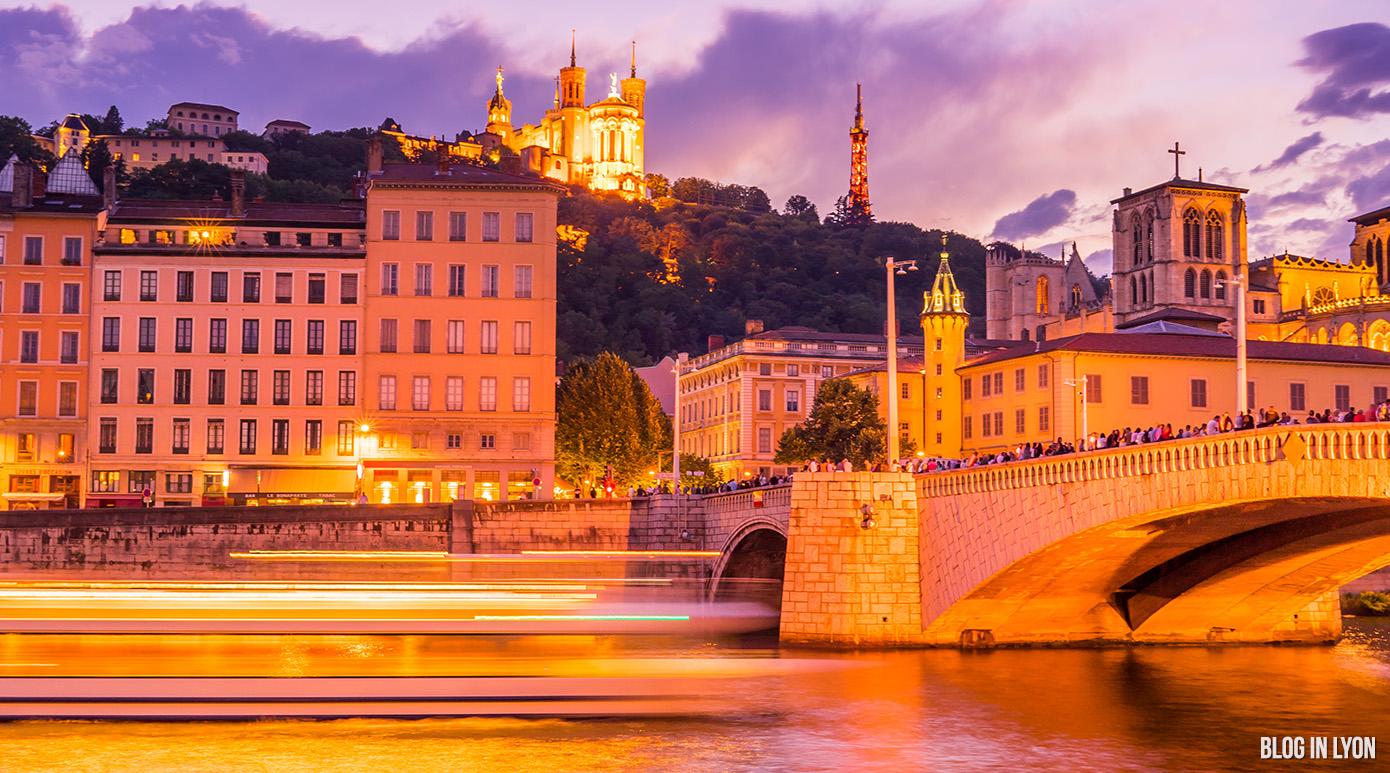 Le soleil se couche sur Fourvière | Blog In Lyon