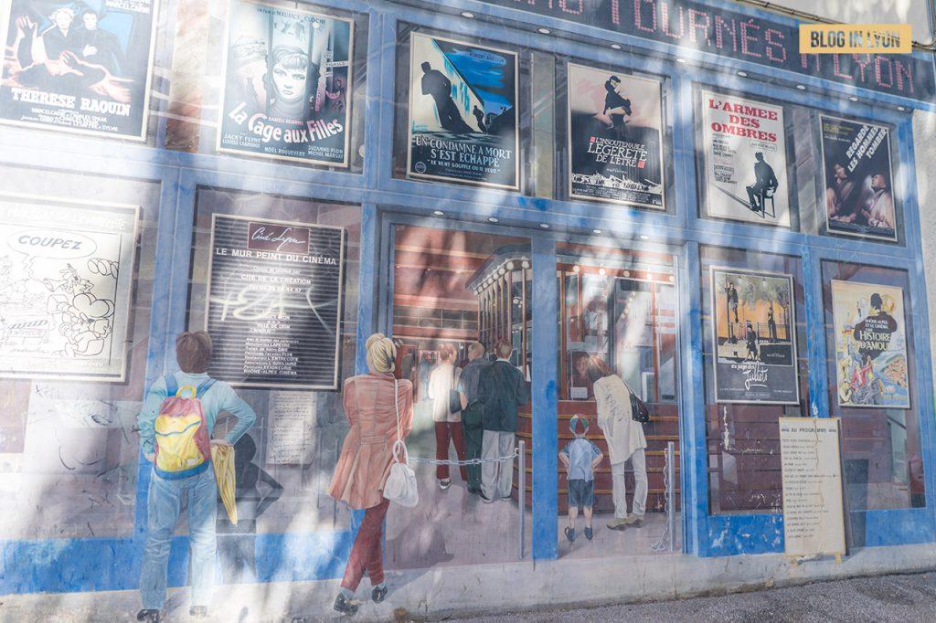 Fresques et murs peints - Rive Gauche - Fresque Cinématographe | Blog In Lyon