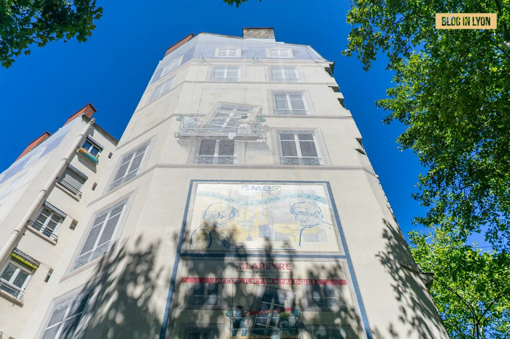 Fresques et murs peints - Rive Gauche - Fresque Cinématographe   Blog In Lyon