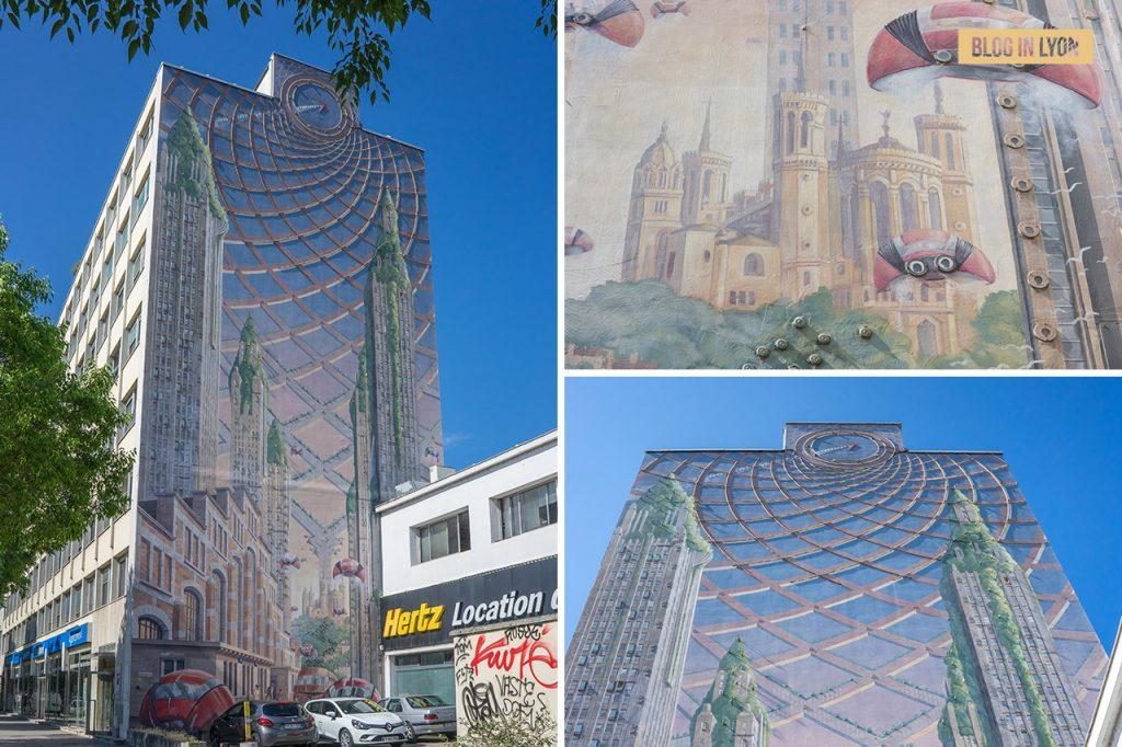 Fresques et murs peints - Rive Gauche - Fresque Lumière   Blog In Lyon