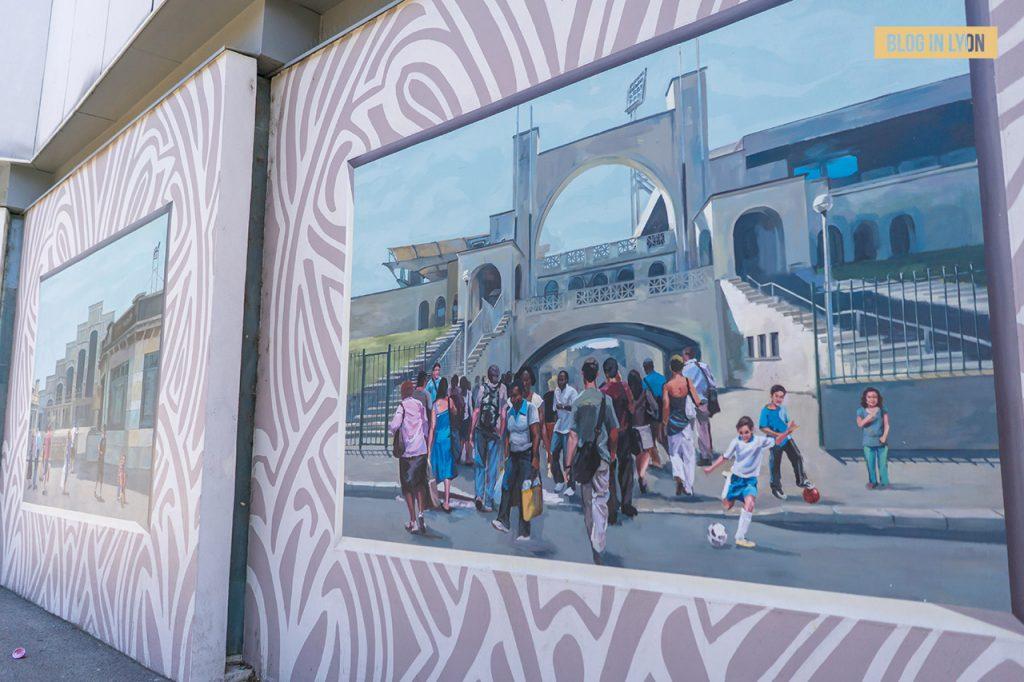 Fresques et murs peints - Rive Gauche - Fresque Art Déco   Blog In Lyon