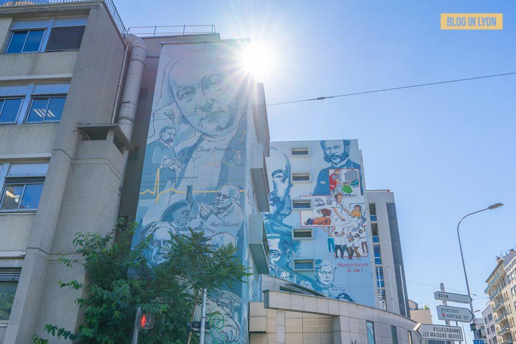 Fresques et murs peints - Rive Gauche - Fresque Lyon, la santé, la vie   Blog In Lyon