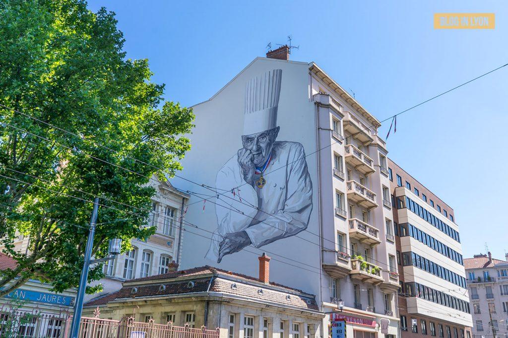 Fresques et murs peints - Rive Gauche - Fresque Paul Bocuse   Blog In Lyon