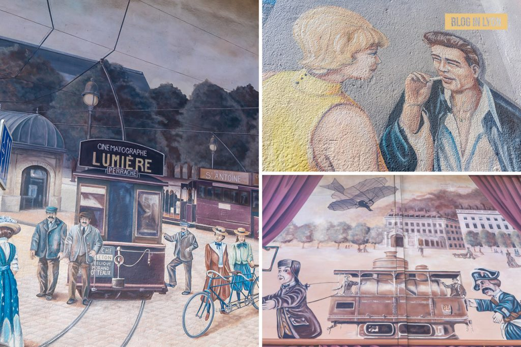 Fresques et murs peints - Rive Gauche - Fresque Voyages dans la ville   Blog In Lyon